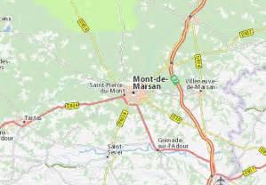 carte d 233 taill 233 e mont de marsan plan mont de marsan viamichelin