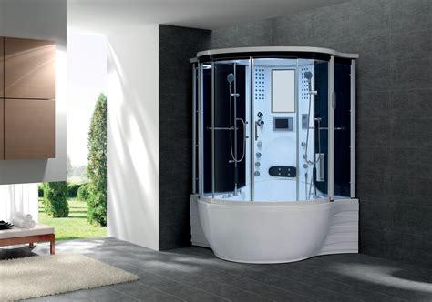 flora dual combine baignoire toute equipee hydromassage et balneo 143x143 cm avec hammam