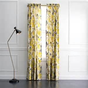 yellow and grey zig zag 84 inch curtain panel