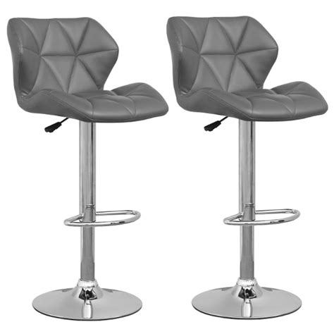 tabouret de bar gris lot de 2 spider tabouret de bar topkoo