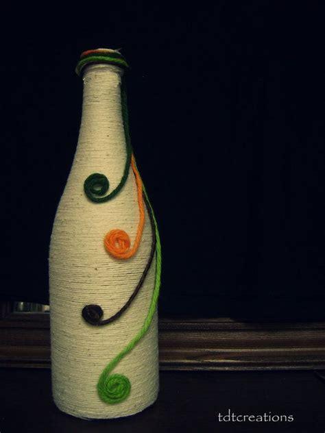 upcycled handmade decorative bottle vase by tdtcreation on etsy 7 00 wine bottle crafts