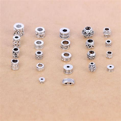 Jewelry Making Beads Tibetan Silver Spacer Beads For Diy