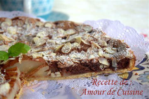 tarte poires et chocolat de stephane glacier amour de cuisine