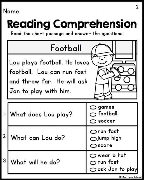 Freeprintablereadingcomprehensionworksheetsforkindergartenimagesaboutonpinterest