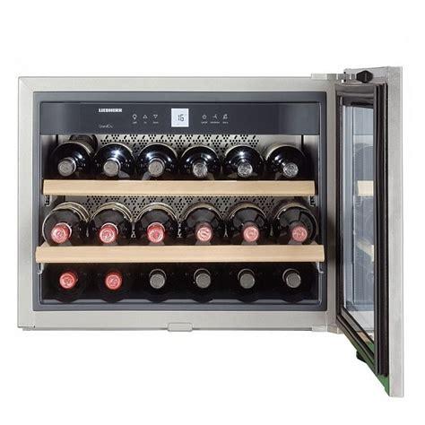 cave 224 vin encastrable niche 45cm 18 bouteilles inox vitr 233 liebherr r 233 f wkees553