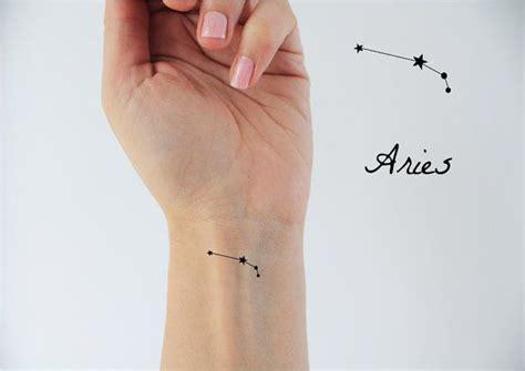 6 Aries Zodiac Temp Tattoos / Temporary Tattoos / Aries Zodiac / Aries Constellation / Stars