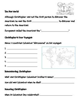 All Worksheets » Christopher Columbus Worksheets  Printable Worksheets Guide For Children And