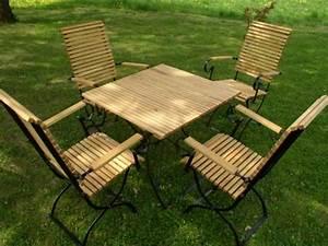 Gartenstühle Holz Klappbar : gartenm bel holz metall wetterfeste robinie und metall iter garten ~ Markanthonyermac.com Haus und Dekorationen
