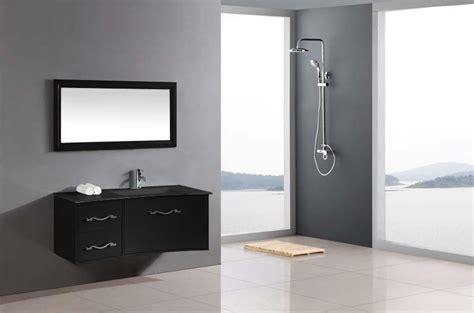 meuble haut salle de bain noir laque