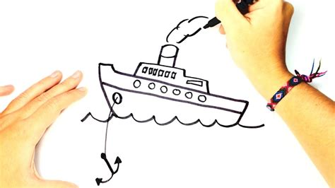 How To Draw A Cartoon Boat Step By Step by How To Draw A Boat For Kids Boat Easy Draw Tutorial