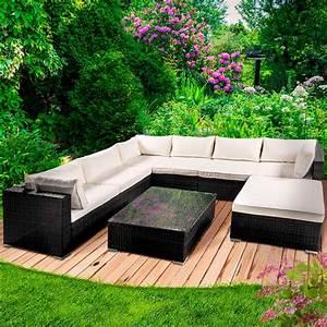 Rattan Sitzgruppe Garten : poly rattan gartenm bel lounge m bel sitzgarnitur gartengarnitur sitzgruppe sofa ~ Markanthonyermac.com Haus und Dekorationen