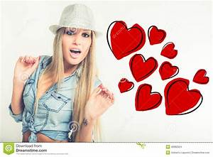 Young Woman In Love Stock Illustration - Image: 49982624