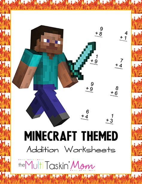Minecraft Themed Math Worksheets  Life Of A Homeschool Mom