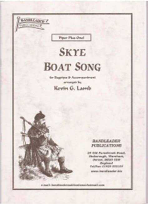 Kevin Roth Skye Boat Song by Kevin G Lamb Skye Boat Song