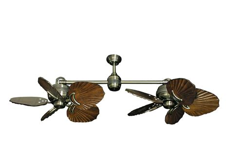 ii antique brass dual ceiling fan with 35