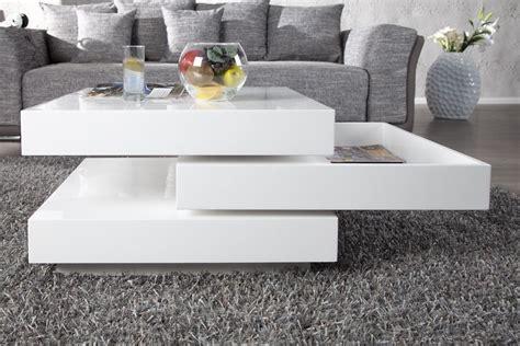 table de salon blanche design en image
