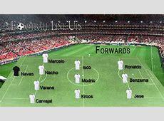 Real Madrid 00 Malaga Real Madrid Starting Lineup La