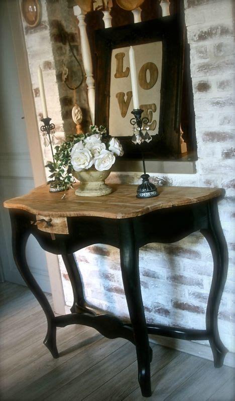 superbe ancienne table console stylis 233 e en bois massif sur 4 pieds patine restauration meubles