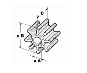 Johnson Buitenboordmotor 35 Pk by Johnson Evinrude Impeller 20 35 Pk 0395289 Allesmarine Nl