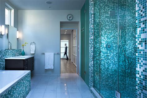 salle de bain mosaique bleue d inspiration d 233 co design