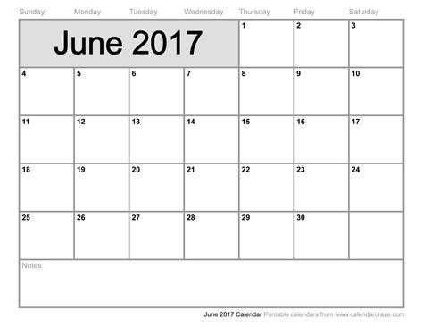 calendar template for june july august 2017 june 2017 calendar printable template pdf holidays