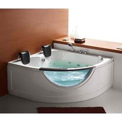 jetted bathtubs for two steam planet mg015 59 in two person corner whirlpool tub