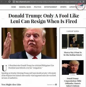 Busted: Did Trump call Robredo a fool? Fake news alert!