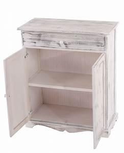 Shabby Chic Möbel Weiß : kommode 78x66x33cm shabby look vintage weiss ~ Markanthonyermac.com Haus und Dekorationen