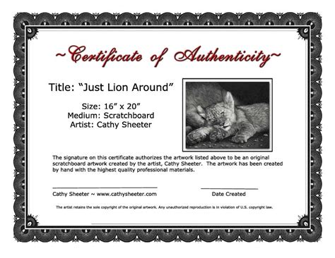 Certificates Of Authenticity For Artists  Artsy Shark. Monday Through Friday Printable Calendar Template. Investors Contract Template. Templates For Invitations Free Template. College Student Resume Template Word. Sample Career Objective Resume Template. Objective Of A Resumes Template. Sample Of Workplace Housekeeping Checklist Template. Nice Get Well Soon Messages For Teacher