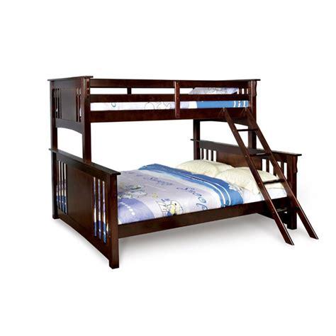 furniture of america roderick xl bunk bed in walnut idf bk604