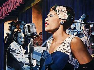 Billie Holiday - Lady Sings The Blues Painting by Jo King