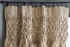 smocked jute curtain panel all things dining rooms