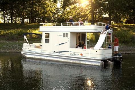 Pontoon Party Boat With Slide by Pontoon Houseboat Bring Back Memories I Don T