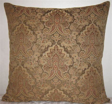 chenille paisley decorative pillow cover 24x24