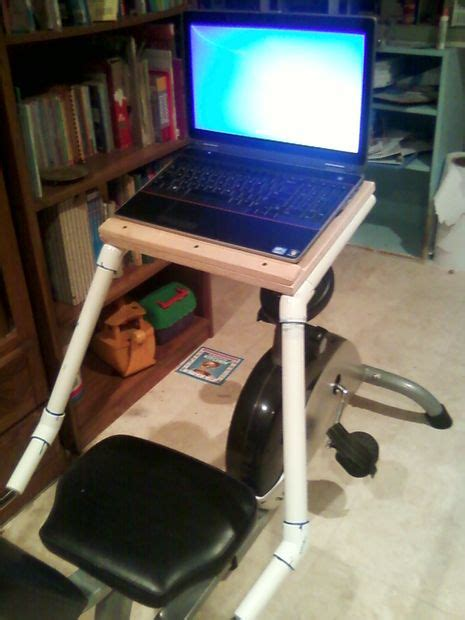laptop desk for stationary recumbent exercise bicycle