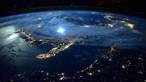 Boa noite na Terra vista do espaço