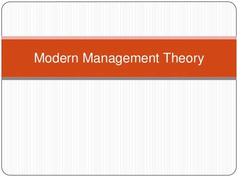 4 modern management theory session 2