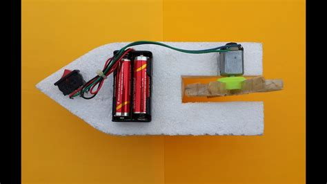 Easy Toy Boat by How To Make A Simple Toy Boat With Dc Motor At Home Youtube