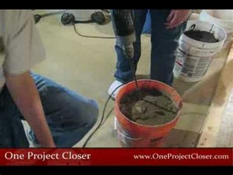 how to mix self leveling mortar cement