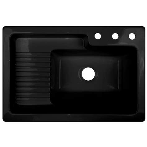 shop corstone black acrylic self laundry sink at