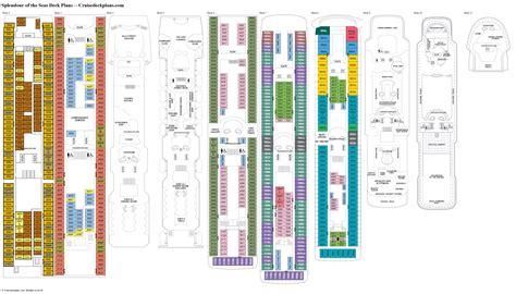 splendour of the seas deck plans cabin diagrams pictures