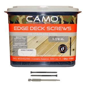 camo 1 7 8 in 316 stainless steel trimhead deck