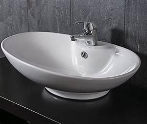 Bemalte Keramik Waschbecken : design keramik waschschale oval aufsatz waschbecken waschtisch waschplatz ~ Markanthonyermac.com Haus und Dekorationen