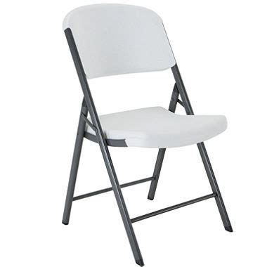 lifetime commercial grade contoured folding chair white