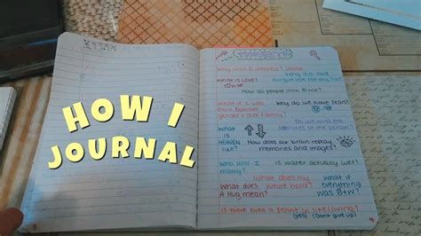 What's In My Journal How I Journal  Emma Marie Youtube