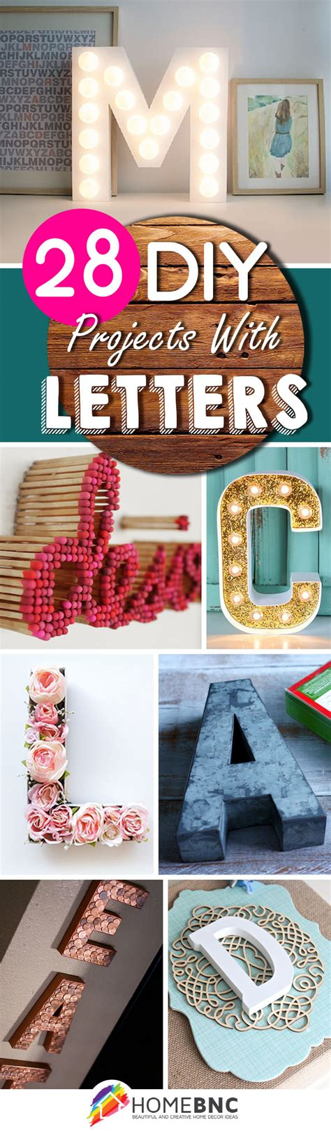 28 Best Diy Projects With Letters (ideas And Designs) For 2018