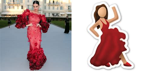 Katy Perry's Red Cannes Dress Is Giving Dancer Emoji Vibes