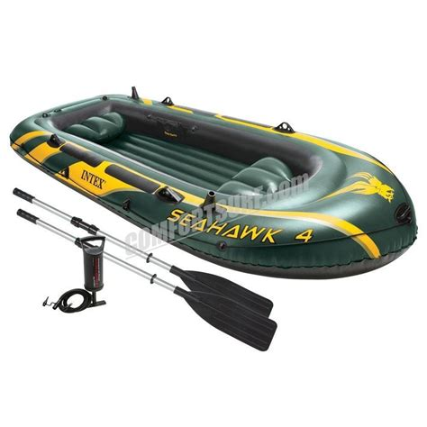 Inflatable Fishing Boat Malaysia by Seahawk 4 Intex 68351 4 Persons Kayak Rescue Fishing
