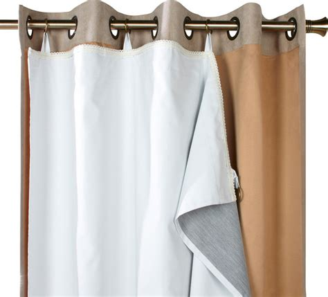 thermalogic quot ultimate liner quot blackout liner curtain panel white 45x56 contemporary