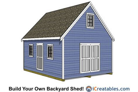gor knowing free storage shed plans 16x20